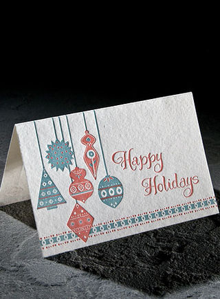 Smock holiday card